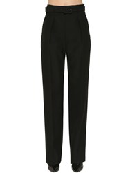 Givenchy Wide Leg Cool Wool Pants Black