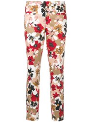 Cambio Floral Trousers Neutrals
