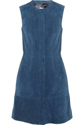 Iris And Ink Suede Dress Blue