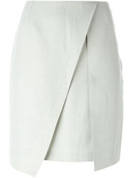 Romeo Gigli Vintage Pleat Detail Skirt Grey