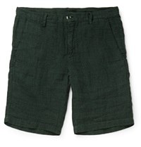 Massimo Alba Evergreen Prince Of Wales Check Linen Shorts