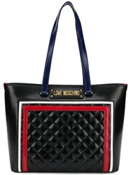 Love Moschino Quilted Logo Tote Black