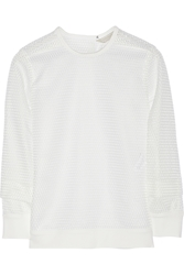 Reed Krakoff Honeycomb Mesh Top White