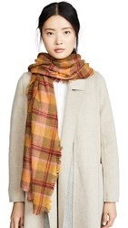Madewell Colorful Plaid Scarf Madras Spiced Olive