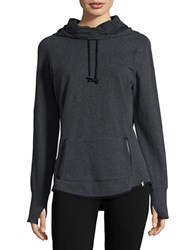 Marc New York Cotton Stretch Hoodie Charcoal Heather