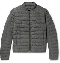 Ralph Lauren Purple Label Lawton Quilted Shell Down Jacket Gray