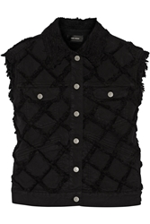 Isabel Marant Garson Frayed Denim Vest Black