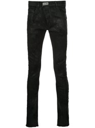 Fagassent Skinny Jeans Cotton Polyurethane Black