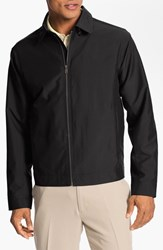 Men's Big And Tall Cutter And Buck 'Weathertec Mason' Wind And Water Resistant Jacket Black
