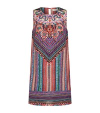Gottex Bead Print Silk Dress Female Multi