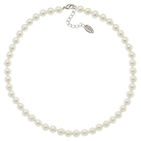 Finesse Classic 8Mm Pearl Necklace Silver