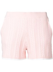 Guild Prime Fitted Shorts Women Cotton Nytril Rayon 34 Pink Purple