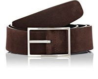 Simonnot Godard Men's Reversible Nubuck Belt Brown