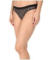 Dkny Nightfall Thong Black Skinny Dip Women's Underwear