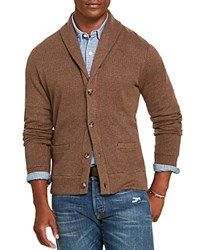 Polo Ralph Lauren Jacquard Fleece Shawl Collar Cardigan Olive