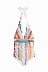 Missoni Women S Diamond Knit Halterneck Swimsuit Boutique1 Multi