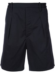 Christophe Lemaire Elasticated Tailored Shorts Blue