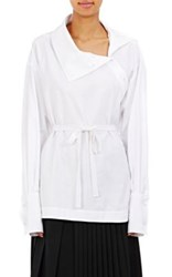 Stella Mccartney Women's Cotton Oversized Long Sleeve Top White