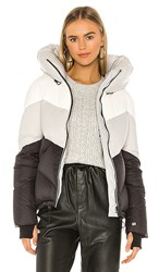 Soia And Kyo Malvina Puffer Jacket In Black Gray. Multicolor
