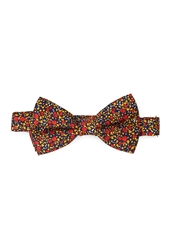 Forever 21 Floral Print Bow Tie Navy Red