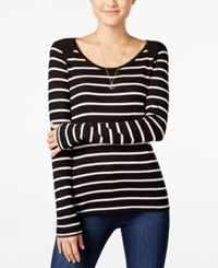 Energie Juniors' Josette Striped Pullover Top Caviar