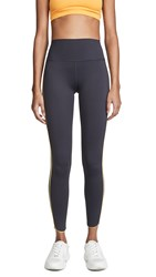 Splits59 Huddle High Waist Leggings Charcoal Bright Orange