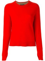 Rag And Bone Round Neck Jumper Red