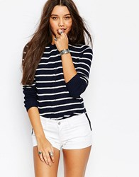 Abercrombie And Fitch Core Hi Lo Crew Neck Knit Jumper Multi
