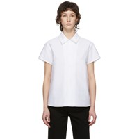 A.P.C. White Marina Short Sleeve Shirt
