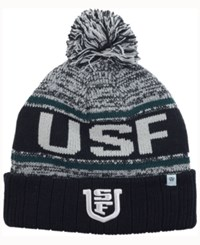 Top Of The World University San Francisco Dons Acid Rain Pom Knit Hat Heather Gray Black Green