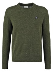 Wood Wood Yale Jumper Dark Green