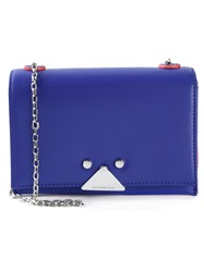 Emporio Armani Single Chain Clutch Blue