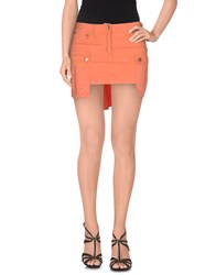 Frankie Morello Skirts Mini Skirts Women Orange