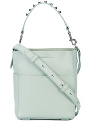 Allsaints All Saints Silver Studded Tote Bag Green