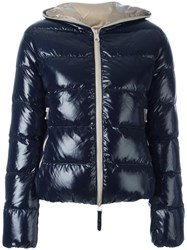 Duvetica Zipped Hooded Jacket Blue