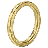 Dower And Hall 18Ct Vermeil Hammered Nomad Band Gold