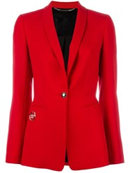 Philipp Plein Fitted Blazer Red