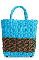 Truss Small Tote Blue Half Turquoise
