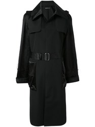 Undercover Belted Trench Coat Black