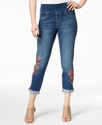Style And Co Petite Embroidered Pull On Jeans Created For Macy's Briston