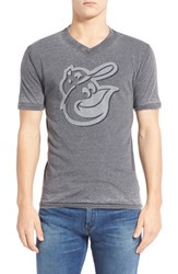 Men's Red Jacket 'Baltimore Orioles Calumet' Graphic V Neck T Shirt