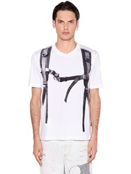 Love Moschino Backpack Printed Cotton Jersey T Shirt