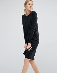 Dr. Denim Dr Long Sleeve Jersey Dress Black