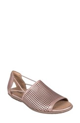 Earth 'S Shelly Sandal Blush Metallic Leather