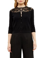 Ted Baker Graccia Beaded Lace Cardigan Black