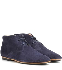 Tod's Suede Oxford Shoes Blue