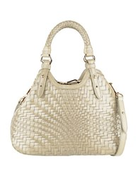 Cole Haan Genevieve Mini Triangle Leather Satchel Ivory