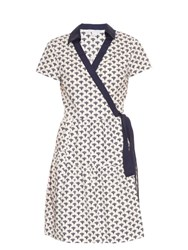Diane Von Furstenberg Kaley Dress White Navy