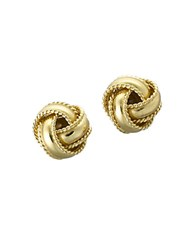 Lord And Taylor 18 Kt Gold Plated Knot Stud Earrings