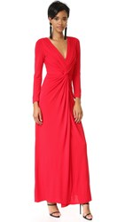 Badgley Mischka Collection Twist Front Gown Red